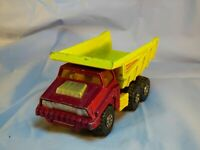 Vintage 1973 Matchbox Superkings K-4 Big Tipper Truck Dumping Action  Lorry Toy