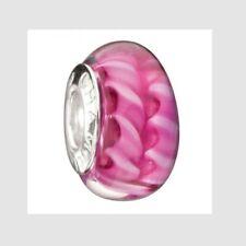 Chamilia Murano Glass Bead Sterling Silver Charm, Fuchsia Dream