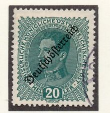 Austria 1918-19 Early Issue Fine Used 20h. Optd 220910