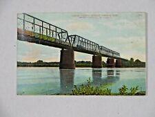 1908 Postcard Union Pacific Railroad Bridge Omaha NE Anna Nonnenmacher IA Ger