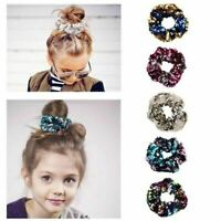 Glitter Sequins Scrunchies Bobbie Hair Ties Elastic Rubber Band Ponytail Holder