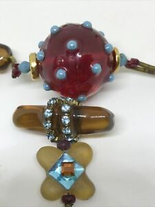 ARTIST LALO ORNA HANDCRAFTED WHIMSICAL DESIGN NECKLACE BOWTIE PENDANT
