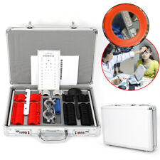 104Pc Optical Trial Lens Set Plastic Rim Leather Case Optometry Test Trial Frame