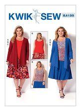 Kwik Sew SEWING PATTERN K4199 Womens Jacket,Tank Top,Skirt 1X-4X Plus Size