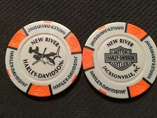 Harley Poker Chip (Gray & Orange) New River V-22 Osprey Jacksonville, N.C.