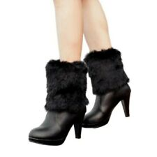 Sweet Women Ladies Snow Ankle Boots Bowknot Furry Pull On Shoes 3 Colors Pumps L