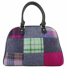 Ladies Harris Tweed Patchwork Handbag Available In 3 Colours LB1022