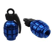 2PCS Grenade Alloy Valve Caps Dust Covers Bike Bicycle MTB BMX Car Tyre Hoc