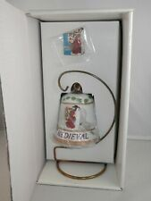 Duncan Royale History of Santa Claus Medieval Bell & Enamel Lapel Pin w/Stand