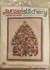 Nip Sunset Stitchery Christmas Tree Fantasy Crewel Embroidery Kit Sealed # 2070