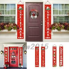 Merry Christmas Banner Wall Hanging Door Curtain Home Party Decoration AU
