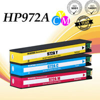 3 Pack Cyan Magenta Yellow Ink Cartridge For HP 972A PageWide Pro 477dw 377dw