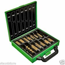 Drill Bit Set 88 Piece Kawasaki Titanium Coated Steel High Speed + Metal Case