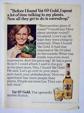 1975 Magazine Advertisement Page Vat 69 Gold Scotch Whisky Whiskey Woman Ad