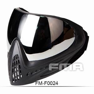 FMA Tactical Anti-fog Goggle Paintball Full Face Mask Single Layer Mirror F0024