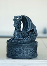 Celtic Dragon Jewelry Trinket Box Faux Stone Hand Finished Superb Detail