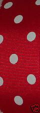 "Red Dot Grosgrain Ribbon, Hair Bows Scrapbook Diy Christmas Crafts Wreaths 1.5"""