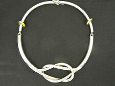 VINTAGE 70's  MODERNIST TAXCO TC-51 MEXICO 925 STERLING TWIST CHOKER NECKLACE