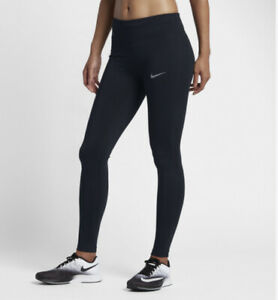 Nike Essentials M Medium UK 12-14 Dri-FIT Running Mid-Rise Black Tights Leggings