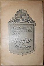 Katalog Rassehunde Kurt Hupfer Eisenberg Thüringen um 1935 Hund Hunde Rassehund