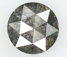 Natural Loose Diamond Round Rose Cut I2 Clarity Black Grey Color 0.49 Ct N5642
