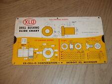 RARE 1957 Ex-Cell-O Drill Bushing Slide Rule Chart Detroit Michigan Perrygraf LA