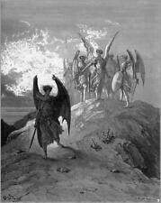 Paradise Lost John Milton Gustave Dore Satan Angels Devil Occult 6x5 pouces Imprimer