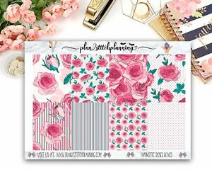 Hypnotic Roses Patterned Full Box Planner Stickers /Scrapbooking/ Bujo
