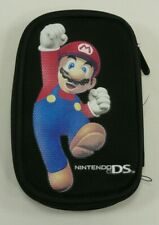 2008 ALS Industris Nintendo DS DSi Super Mario Soft Zipper Carrying Case Black