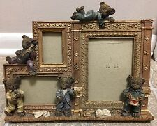 Unique -Teddy Bear Theme Resin Multi-photo Frame (Musical Scene)
