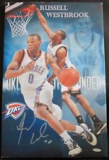 Russell Westbrook Signed 13x20 Thunder Canvas Photo - Upper Deck - UDA