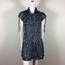 DKNY JEANS Damen Kleid S 36 Schwarz Weiß Retro Blusenkleid Shirtdress Tunika