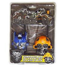 Enfants talkie walkie transformers optimus prime et bumblebee batterie jouet