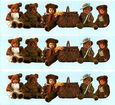 Anne Geddes BABY Teddy Bear Border Scrapbook Stickers! 3 sheets