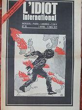 L'Idiot International n°16 (avril-mai 1971) Au coeur de la poudrière irlandaise