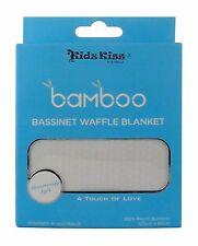 Kidz Kiss 100 Bamboo Bassinet Waffle Blanket 120cm x 80cm