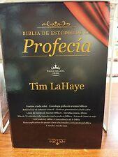 BIBLIA  DE ESTUDIO DE LA PROFECIA PIEL CAFE  TIM LAHAYE