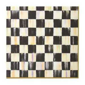 Mackenzie Childs Courtly Check Paper Napkins - Dinner - Gold # 32903-040GLD