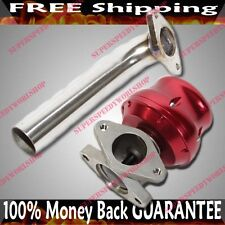 Dump Tube Pipe & RED 35/38mm Wastegate Actuator Turbo for Nissan Honda Acura BMW