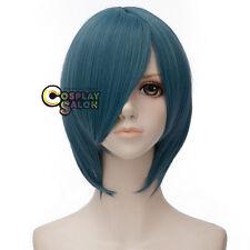30cm Short Blue Straight Anime Puella Magi Miki Sayaka Unisex Cosplay Party Wig