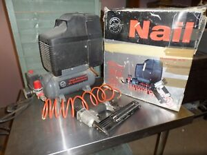 High Pressure Nail Gun and compressor kit. Tested and in good working order.