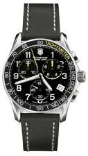 New Victorinox Swiss Army Men's 241316 Chrono Classic Chronograph Black Watch