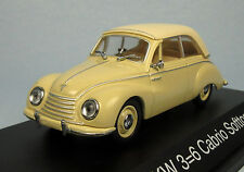 SCHUCO DKW 3=6 Cabrio Softtop (Cream) 1/43 Scale Diecast Model NEW, RARE!