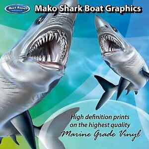 Mako Graphics - set of 500mm Fish Boat Graphics