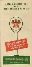 1946 TEXACO Paper Is Precious Road Map OREGON WASHINGTON IDAHO MONTANA WYOMING
