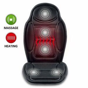 【Snailax Shop】Vibration Back Massage Seat cushion pad with heat, Back Massager