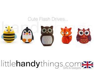 Kids Cute Animal Owl/Fox/Bee USB 8GB Flash Drive Portable Storage Pen/Stick Gift