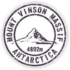 Vinson Massif Mount Stamp Mountain Vinyl Sticker for Bumper Baggage Travel