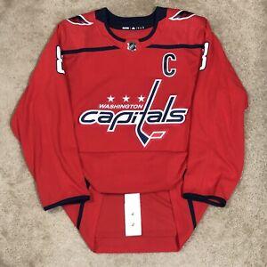 Adidas Authentic Alexander Ovechkin Washington Capitals NHL Hockey Jersey Red 54