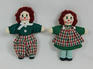 "World of Miniature Bears By Theresa Yang Rag Doll Set 3.25"" Hand Made #5900-GC"